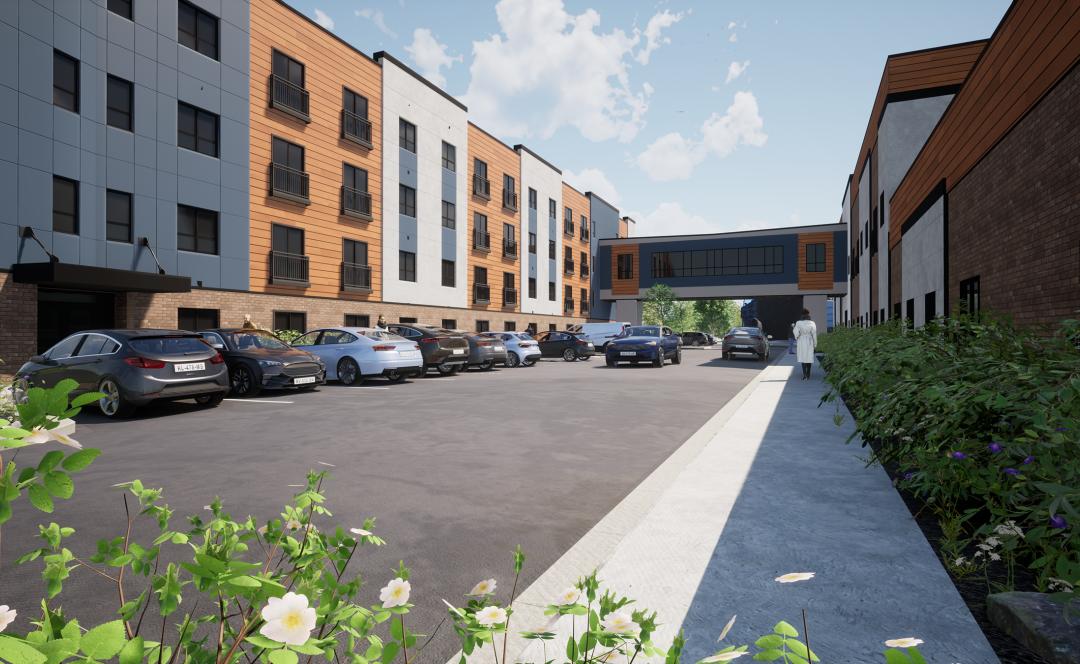 Senior Apartments at Skyview – Adaptive Reuse & New Construction
